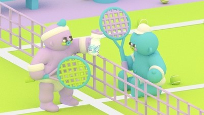 Two Babies Play a Tennis Match in This Week's Comic from Julian Glander