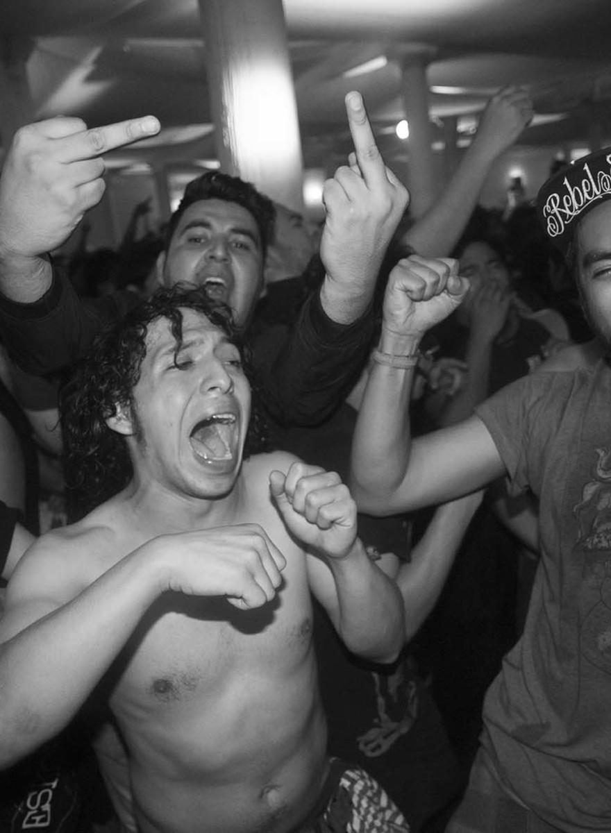 Una noche de punk rock en Tlatelolco