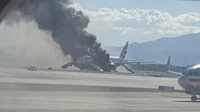 Dramatic Video Shows Plane Ablaze on Las Vegas Runway