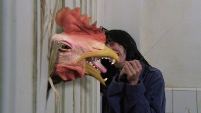 Behind the Scenes of the Poultry-Themed, Acid-Trip Remix of 'The Shining'