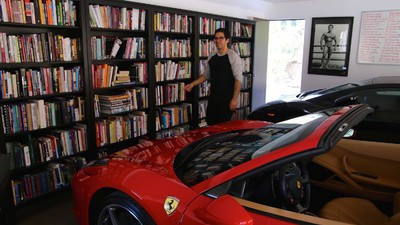 Inside the Garage of the Internet's Most Hated Self-Help Guru