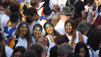 En imágenes: 1,4 millones de personas llenan Barcelona por la independencia de Cataluña