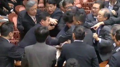 A Bunch of Japanese Politicians Got in a Fight During a Pacifism Debate