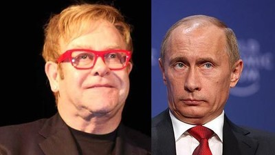 Russian TV Prank Guys Pretended to Be Putin and Called Elton John for Some Reason
