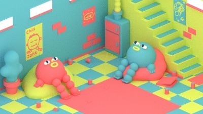 Two Friends Convert the Basement into a Chill Zone in This Week's Comic by Julian Glander