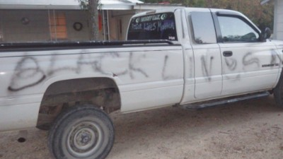 Police Think a Man Is Trying to Frame Black Lives Matter for Vandalizing His Truck