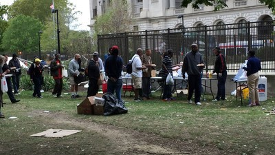 Meet the Homeless People Getting Kicked Out of the Park They Call Home Because of the Pope's Visit
