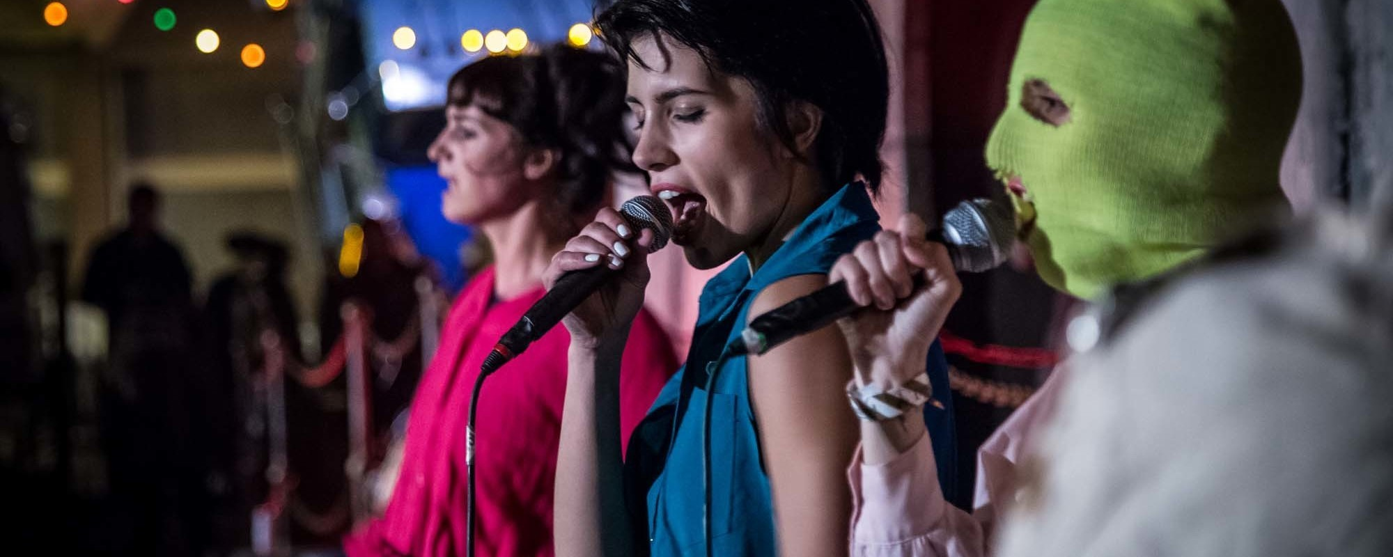 Photos of Pussy Riot Performing at Banksy's Dismaland