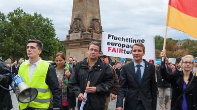 Die AfD hat in Thüringen ihre eigene Pegida aufgezogen – mit noch mehr Neonazis