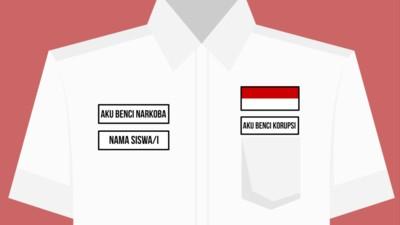 """Waarom staat er """"ik haat drugs"""" op Indonesische schooluniformen?"""