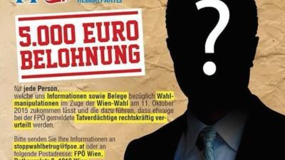 Wie sich die FPÖ mit ihrem Wahlbetrugs-Inserat auf den Pfad von Verschwörungstheoretikern begibt