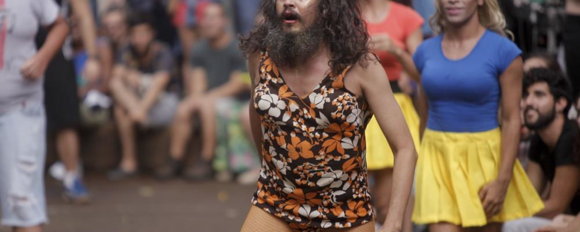 Photos of Brazilians Playing Dodgeball in Drag