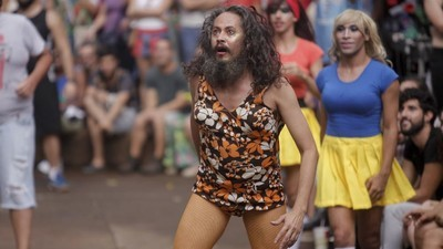 Playing Dodgeball in Drag