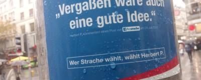 Die Kommentare von Eau de Strache kleben jetzt auch auf der Straße