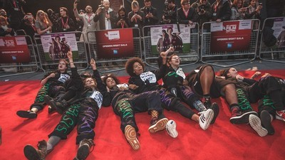 How Feminist Protesters Invaded the Red Carpet Premiere of 'Suffragette'