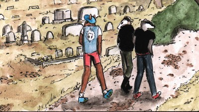 The Punk Animals Visit a Cemetery in This Week's 'Habits' Comic