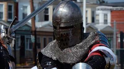 Fotos de un entrenamiento de combate medieval