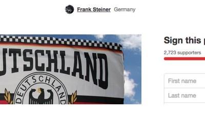Jemand hat eine Petition gestartet, damit er nicht mehr Nazi genannt werden darf
