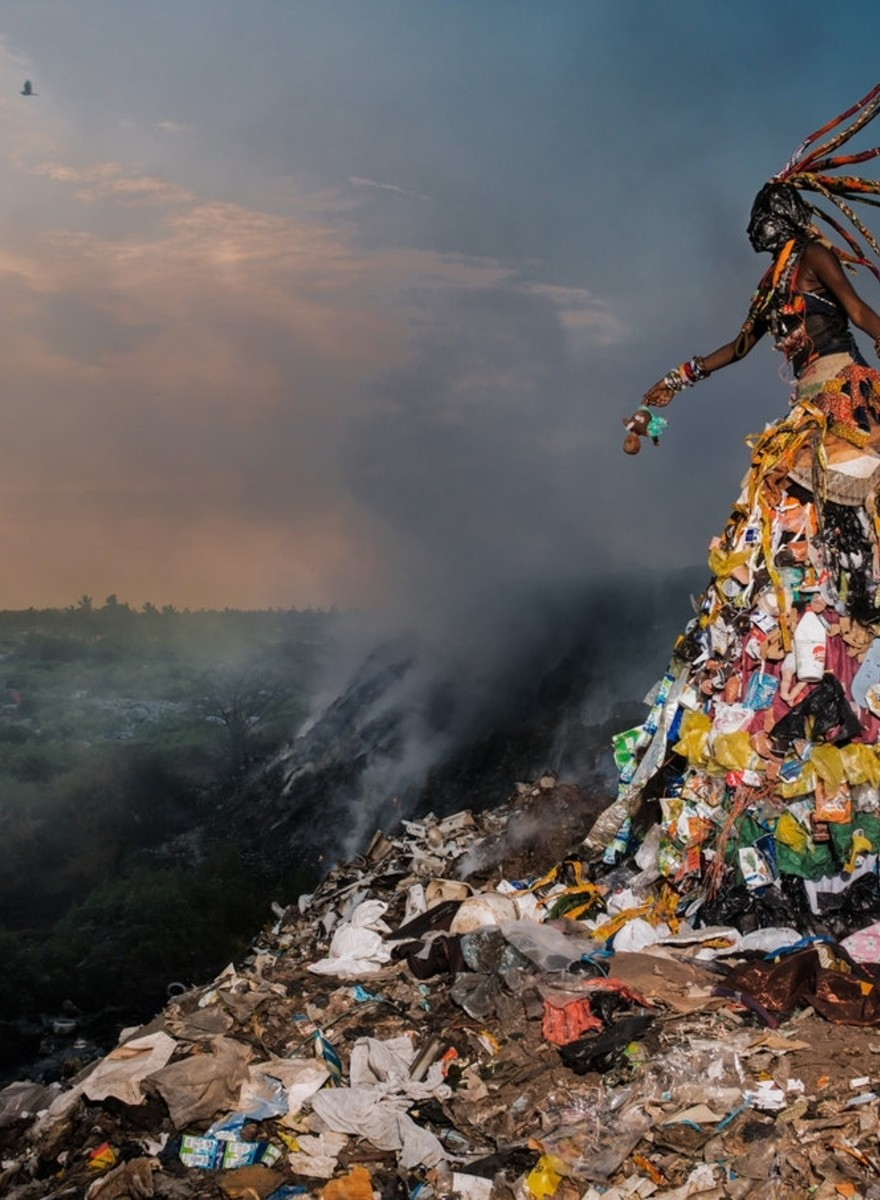 Surreale Fotografien offenbaren die Krise, in der Afrikas Umwelt steckt
