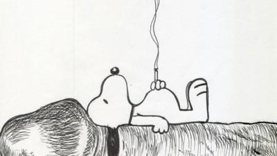 ¿Qué hace Snoopy tumbado sobre una polla?