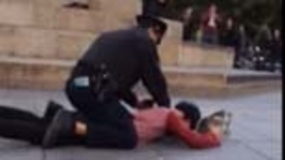 Watch an NYPD Cop Tackle and Pepper-Spray a 22-Year-Old Skateboarder