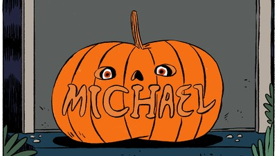 Michael Frightens Young Trick-or-Treaters in This Week's Comic from Stephen Maurice Graham