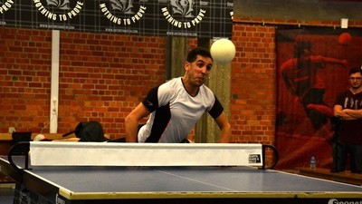 We gingen naar het Belgisch kampioenschap pingpongen met je hoofd