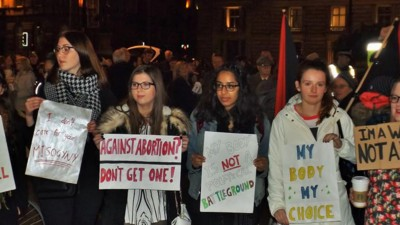 Women's Rights Activists Heckled an Anti-Abortion Rally in Glasgow Last Night
