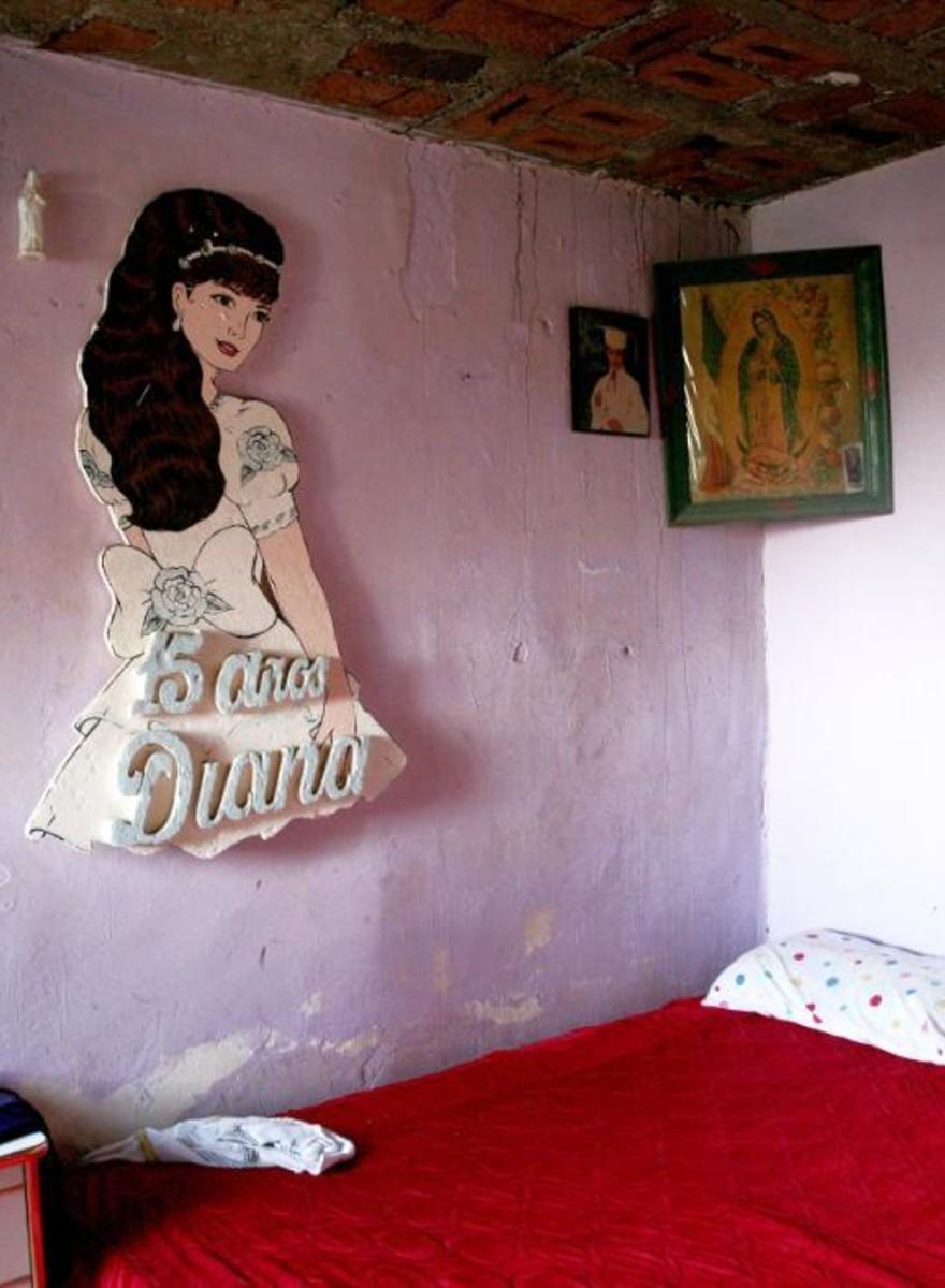 Foto delle stanze delle donne scomparse di Ciudad Juárez