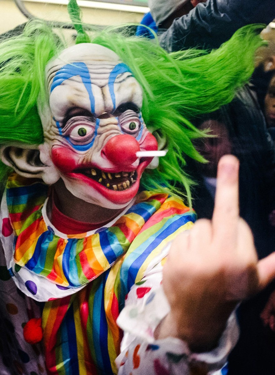 Photos of the Freaks and Weirdos Riding the NYC Subway on Halloween