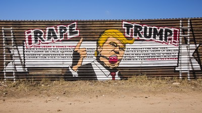 Someone Painted a 'Rape Trump' Mural on the Mexican Border