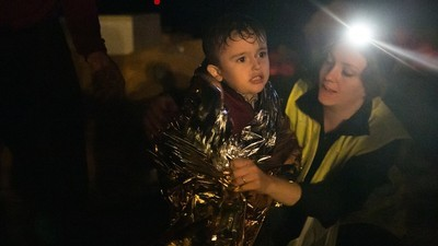 I Spent a Frenzied Night Saving Children Washed Up on a Greek Island
