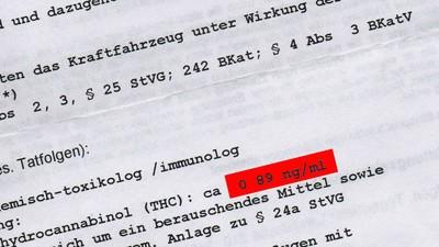 In München hat gerade jemand mit weniger als 1 Nanogramm THC den Lappen verloren