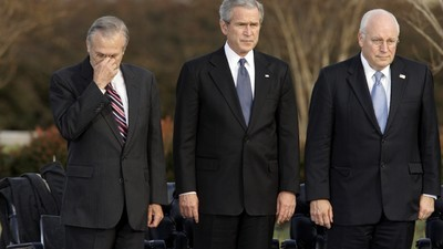 George W. Bush Sticks Up for Cheney and Rumsfeld After Dad Rips Them as 'Iron-Ass' and 'Arrogant'