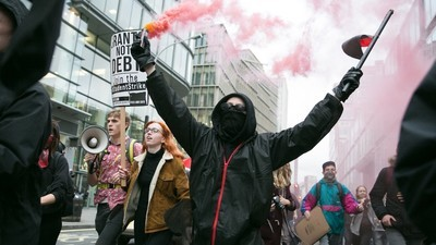 Angry Student Protesters in the UK Tried to Storm a Government Building Yesterday