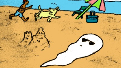 Ghost Girl Spends a Day at the Beach in Today's Comic from Ines Estrada
