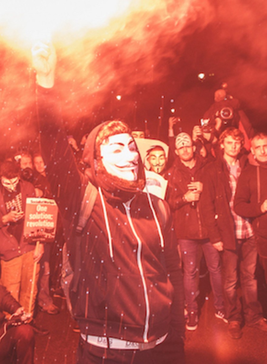 Photos of London's Million Mask March as It Turned Into a Riot