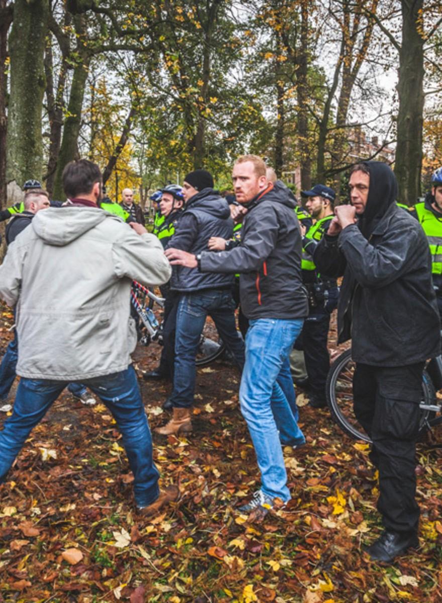 Foto's van de tweede Pegida-demonstratie in Utrecht