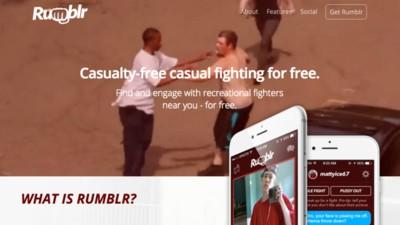 Ik wilde knokken via Rumblr, maar de app bleek een grap te zijn