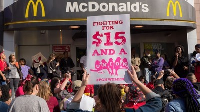 McDonald's Gives Its Shareholders $30 Billion as Its Workers Protest for $15 an Hour