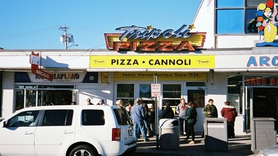 The Pizza Rivalry That's Keeping a Dying Beach Community Afloat