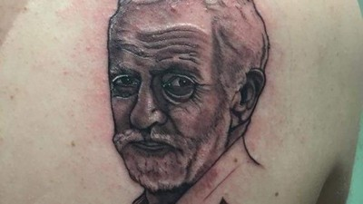 This Kid Tattooed British Left-Wing Heartthrob Jeremy Corbyn on His Back