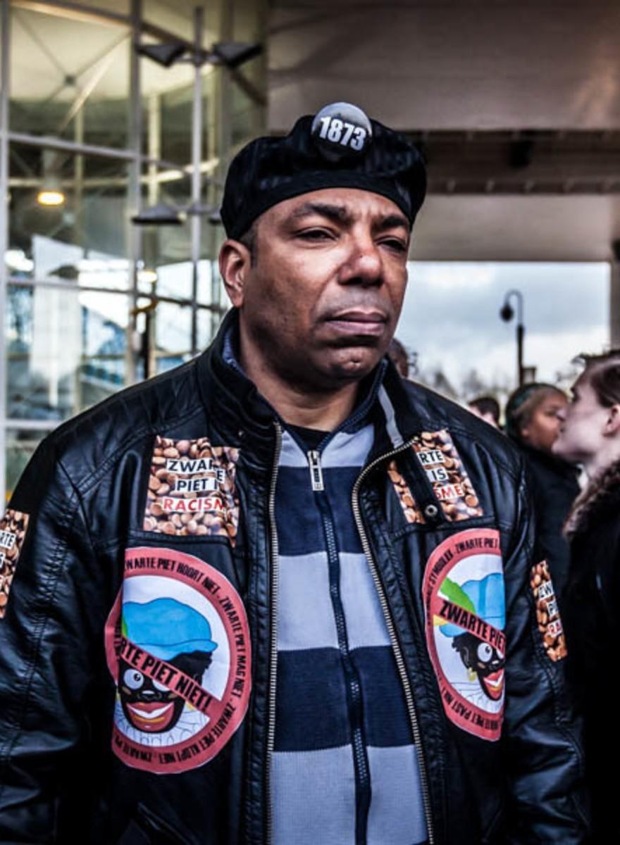 Foto's van de demonstratie tegen Zwarte Piet in Meppel
