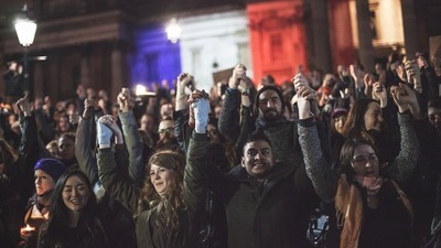 Speaking to Shocked, Defiant People at London's Vigil for Paris