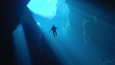 Cave Diving in the Nullarbor Is Like Floating in Space