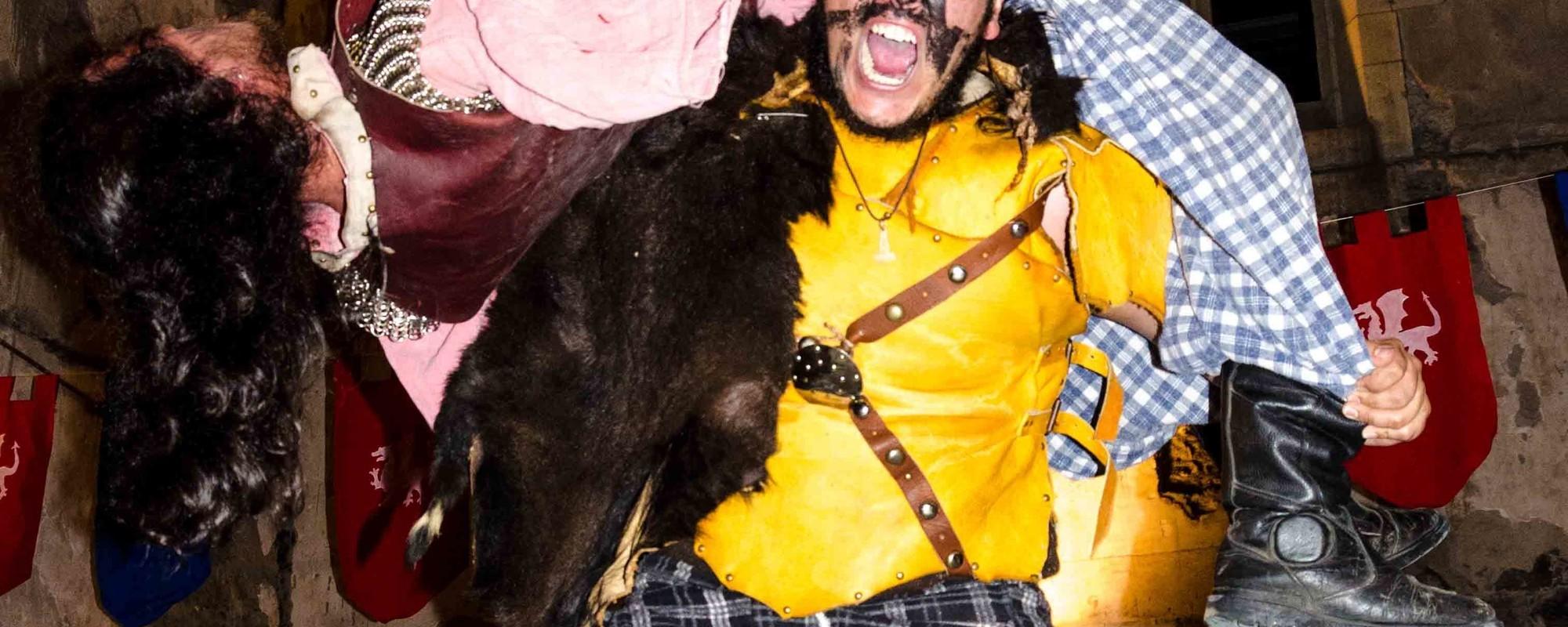 Fotos de un festival medieval en el DF