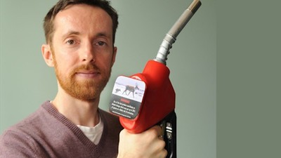 Meet the Canadian Activist Putting Climate Change Warnings on Gas Pumps