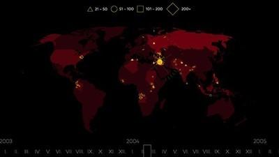 Wo fanden die schlimmsten Terror-Angriffe seit dem Jahr 2000 statt?