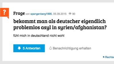 """gutefrage.net ist ein Paradies für rechte """"Asylkritiker"""""""
