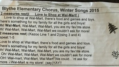 A School Is Asking Kids to Sing This Walmart-Themed Christmas Song